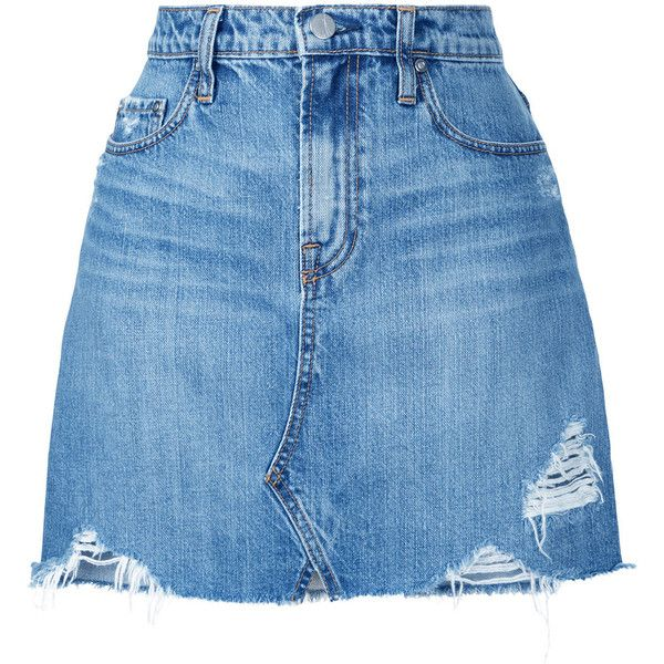 Nobody Denim Piper Skirt Angel ($149) ❤ liked on Polyvore featuring skirts, mini skirts, blue, blue high waisted skirt, short skirts, blue skirt, high-waist skirt and mini skirt