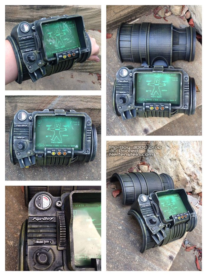 3D printed and finished Pip-Boy 3000 Fallout cosplay display prop. Also made a Pip-Girl.