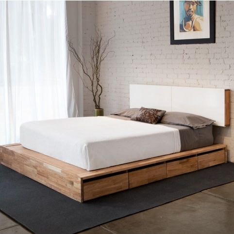 I miss my platform bed, which was the post-college version of this sweet piece. platform + storage