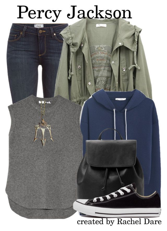 """Percy Jackson//Percy Jackson and the Olympians//Rachel Dare"" by fandom-girls ❤ liked on Polyvore featuring Paige Denim, MANGO, Alexander Wang, Converse and tallysfanbounds"
