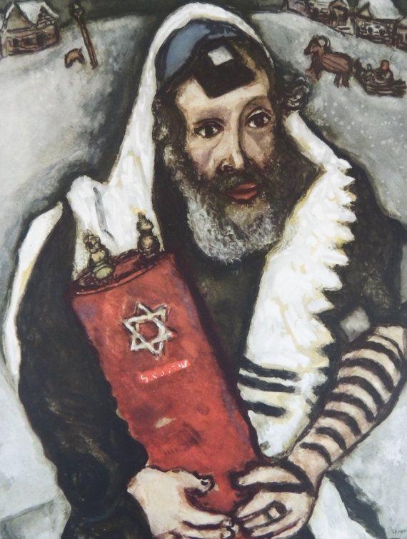 Marc Chagall ~ Rabbi with Torah