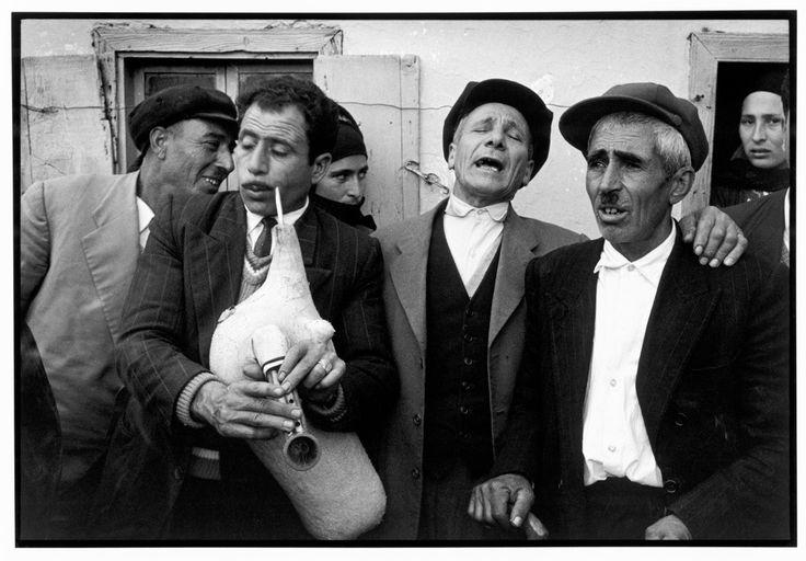 "Greece. Karpathos. Olympos. 1964. Singing men. ""A Greek Portfolio"" p.80 © Costa Manos/Magnum Photos"