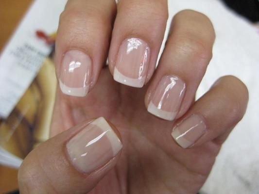 American mani (natural nail)..at my next shellac appointment