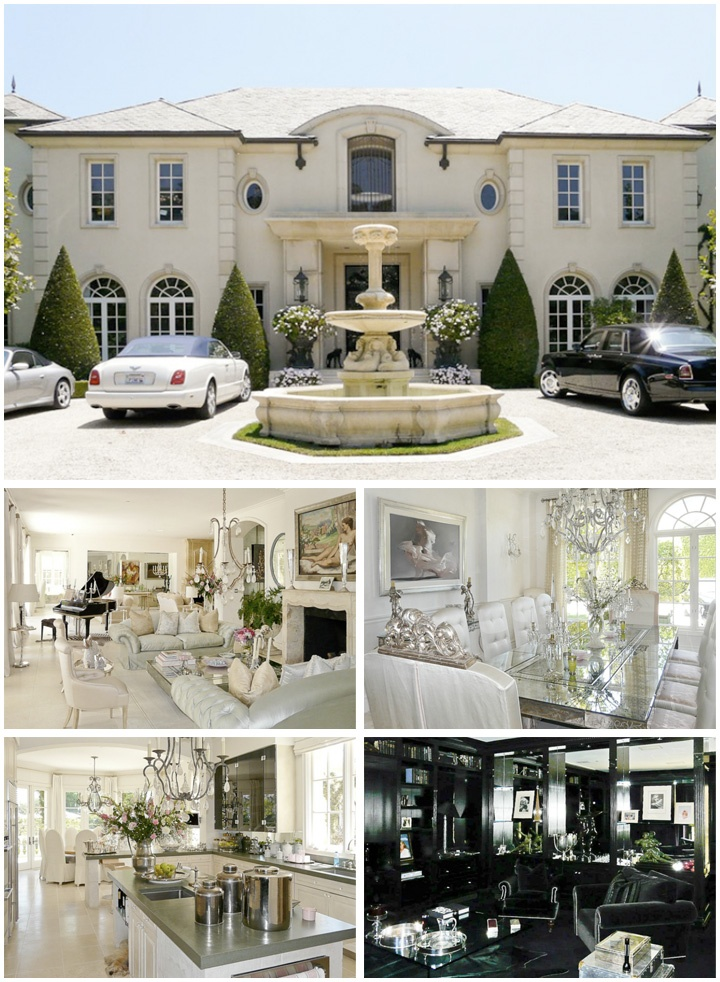 Real Housewives of Beverly Hills' Lisa Vanderpump's Beverly Glen Estate $29 million. Seven bedrooms and 10 bathrooms, with the master suite alone measuring 2,500 square feet.