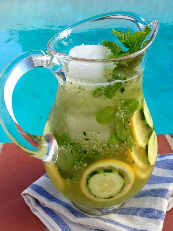 Cucumber Lemonade Recipe #Cucumber #Lemonade #Healthy | www.CiaoFlorentina.com