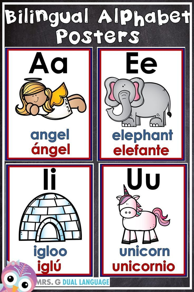 English And Spanish Alphabet Posters For The Bilingual Or Dual Language Classroom Each Poster Has T Dual Language Classroom Bilingual Classroom Alphabet Poster