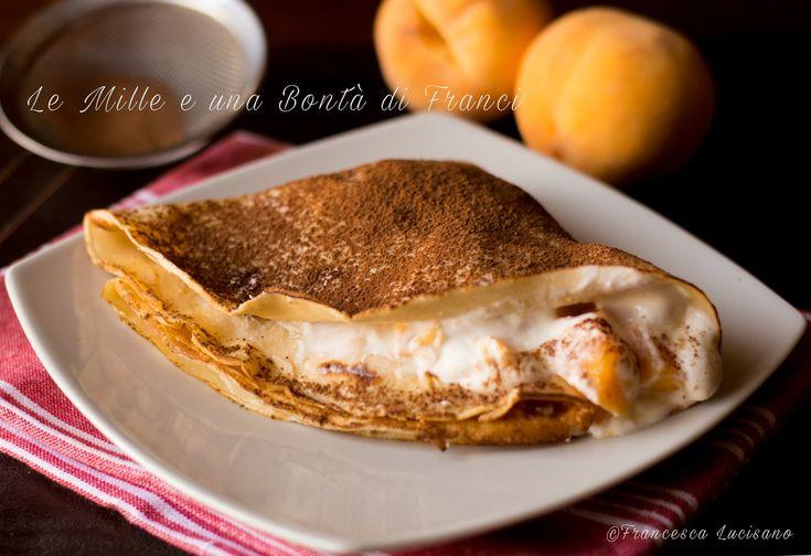 Crepes+con+yogurt+greco+e+pesche