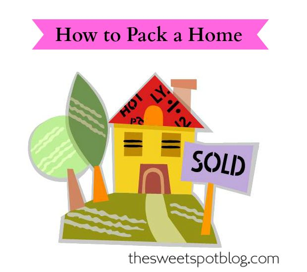 How to Sell House Fast!: Packing by The Sweet Spot Blog http://thesweetspotblog.com/how-to-sell-house-fast-packing/ #packing #diy #sellhouse #staging #decor #makeover