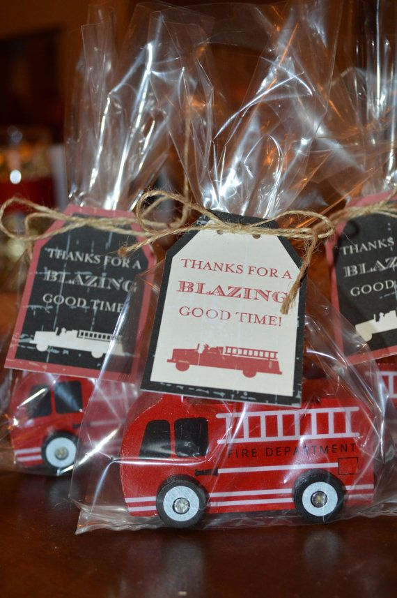 Printable Fireman Party Favor Tags  LOVELY by lovelylittleparty