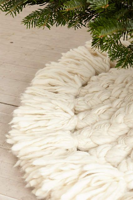 Snow Angel Tree Skirt - anthropologie.com