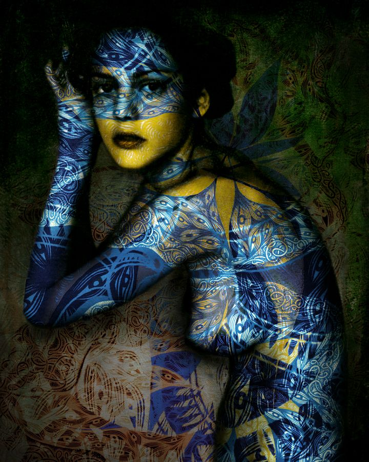 psychedelicccInk Drawing, Henna Pattern, Painting Art, The Artists, Body Painting, Body Art, Yasmina Alaoui, Marco Guerra, Blue Art