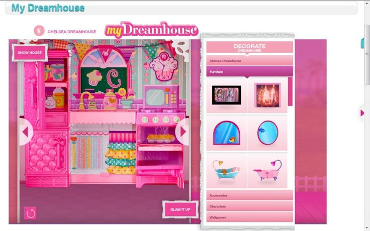 Decorating barbie dream house games
