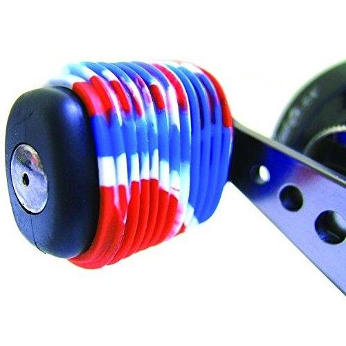 Reel Grip 1144 Reel Handle Cover, Patriotic Tie Dye Finish  The Reel Grip 1144 #Reel #Handle Cover is the latest fishing tackle accessory that adds comfort and grip to your existing reel handles. Because they are made of a soft rubber composite, they easily slide over your existing bait cast reel handles.