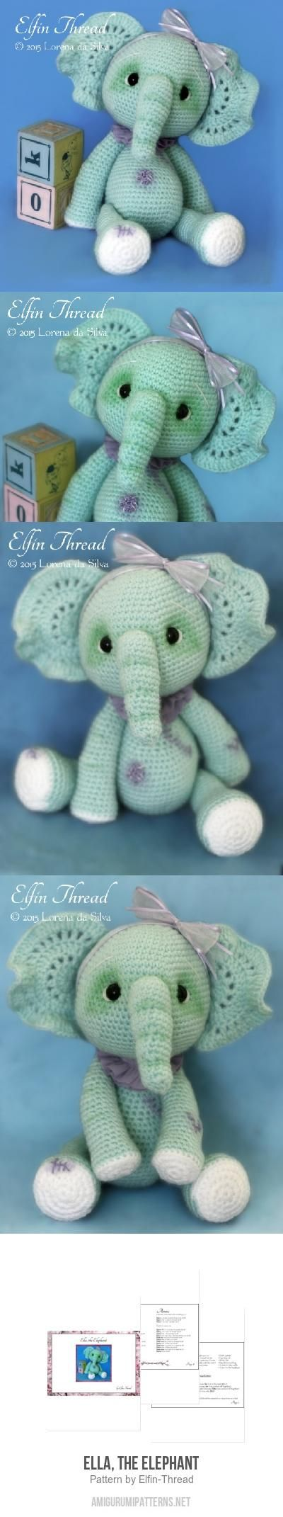 Ella, the Elephant amigurumi pattern