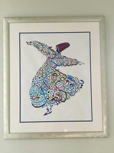 Dervish. Acrylic paint By Mai Hatti