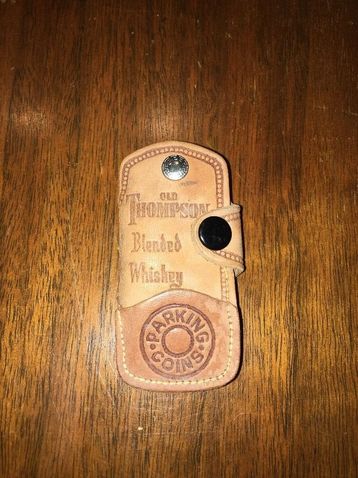 Rare Authentic Old Thompson Blended Whiskey Keychain Leather  | eBay
