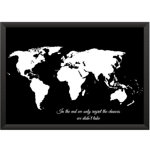 Stunning Wanddeko Weltkarte One World Spruch xcm ein Designerst ck von meine