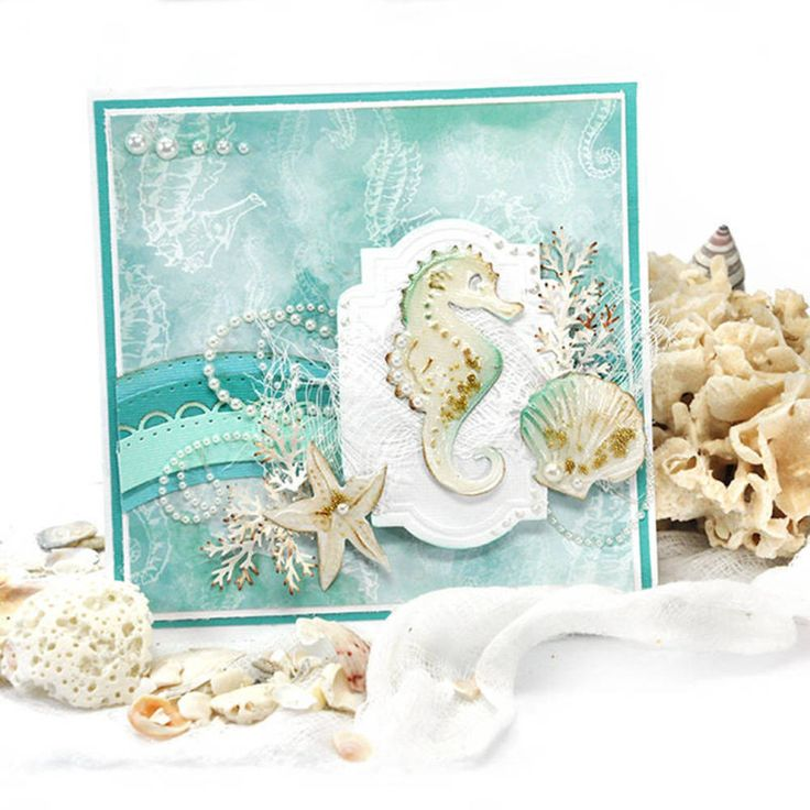 Send the ocean to your friends and family <em>скрапбукинг мастер класс по созданию открытки на</em> with this beautiful beachy card. Learn how to make a handmade card with this tutorial.