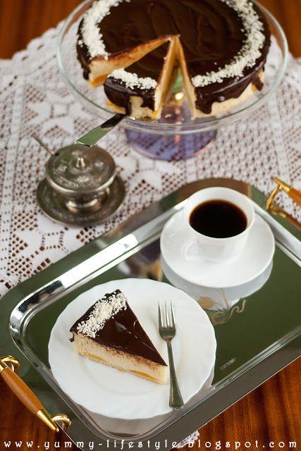 Yummy Lifestyle - Z uwielbienia dla jedzenia.: Świąteczny sernik z białą czekoladą i brzoskwiniami.