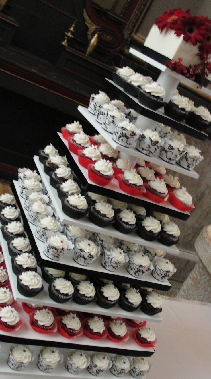 Cupcakes for the guests and a small cake that's just for you and Chris?