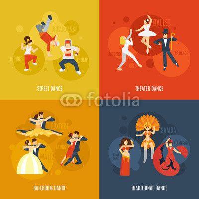 Wektor: Dance Flat Set