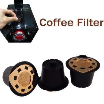 บอกต่อ  BUYINCOINS Upgraded Stainless Steel Aureate Reusable RefillableCoffee Capsule Cup For Nespresso Tool Black - intl  ราคาเพียง  163 บาท  เท่านั้น คุณสมบัติ มีดังนี้ Non-toxic food grade silicone rubber ring seal. Can be used repeatedly, no additional waste material. Can you DIY, according to their own preferences filling,multi-purpose. Stainless steel aureate material, safe, non-toxic,environmental protection.