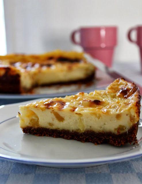 Flan pâtissier aux pommes, sur lit de spéculoos Blog: Une pipelette en cuisine