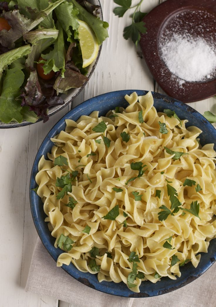 Butter parsley egg noodles. Is there a faster or easier side dish? Add ...