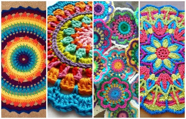 Mandalas a crochet , vídeo tutorial incluido | Manualidades