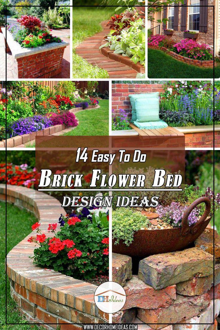 14 Brick Flower Bed Designs Easy Flowerbed Brick Garden