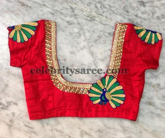 Peacock Design Simple Blouses | Saree Blouse Patterns