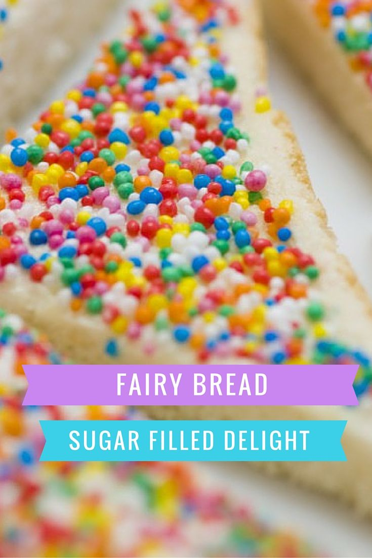 It is quite literally white bread, buttered and topped with sprinkles. No baking…