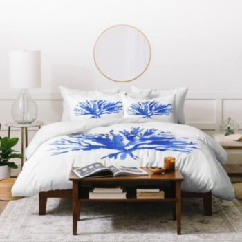 Sea Coral Duvet Cover - Coastal Living Inspired