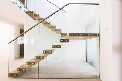 floating staircase against glass - Google Search