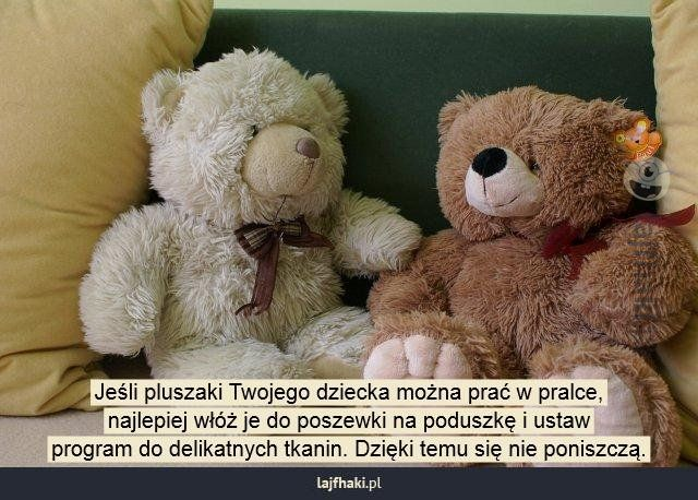 Jak Prac Pluszaki Jesli Pluszaki Twojego Dziecka Mozna Prac W Pralce Najlepiej Wloz Je Do Poszewki Na Poduszke I Ustaw Program Do Teddy Teddy Bear Animals
