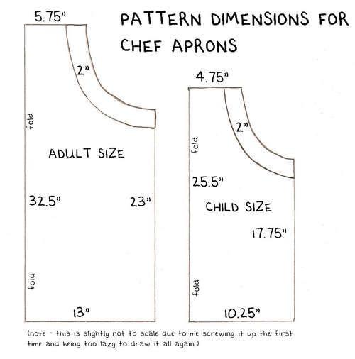 Chef's apron tutorial - adult & child sizes