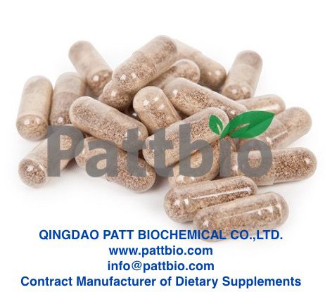 Wild Yam Extract Capsule,contract manufactured by Qingdao Patt Biochemical Co.,Ltd.www.pattbio.com,info@pattbio.com.Pattbio,your reliable contract manufacturer of dietary supplements!