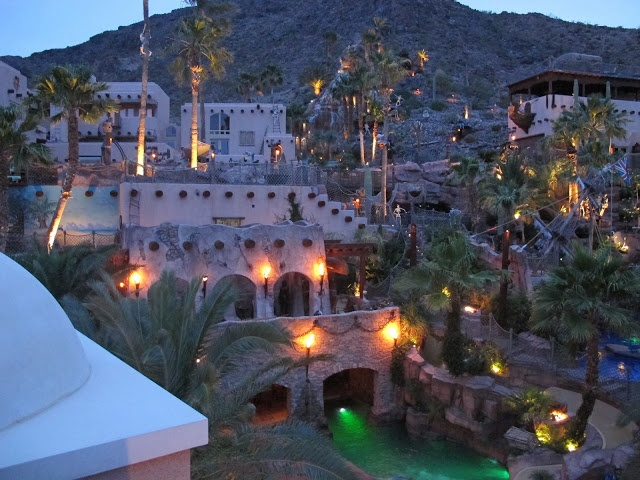 Pirate's Cove, a 22,000 square foot, 20 bedroom, 25 bathroom, 3 swimming pool mansion in Boulder City, Nevada