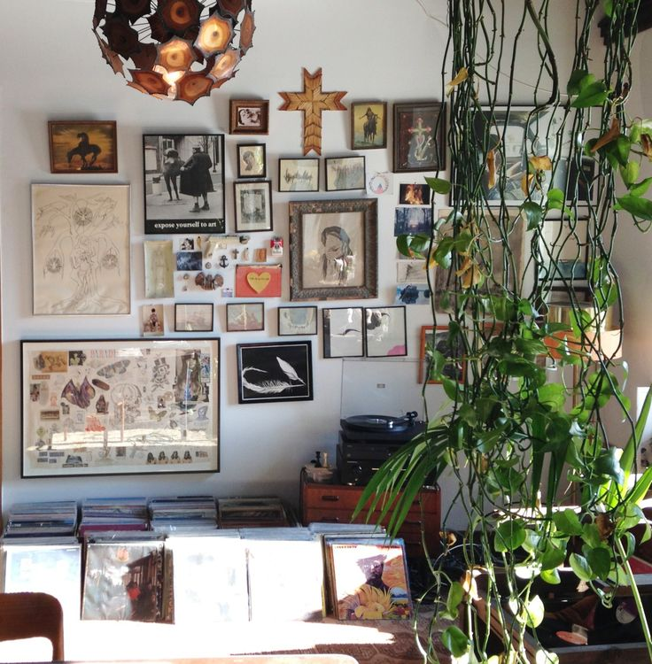 Art Interior Plant Plants Vinyl Music Records Sun New York NY Loft