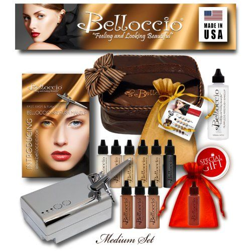 {Quick and Easy Gift Ideas from the USA}  Belloccio MEDIUM Professional Airbrush Makeup System http://welikedthis.com/belloccio-medium-professional-airbrush-makeup-system #gifts #giftideas #welikedthisusa