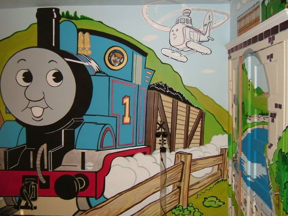 Son s Thomas the Train Bedroom   Boys  Room Designs   Decorating Ideas    HGTV Rate My Space. 39 best Carson s Thomas the train room images on Pinterest   Train