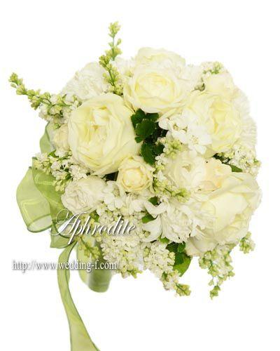ママの手作りブーケ 「ライラック×白バラ」