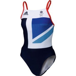 """Adidas Official Team GB London Olympics 2012 womens swimming costume 40"""": Amazon.co.uk: Sports & Outdoors"""