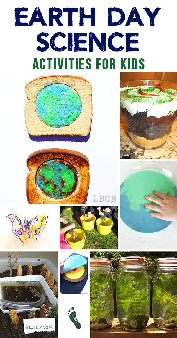 Earth Day is coming which means it time for some blue and green activities for kids! Great ideas to get you started!