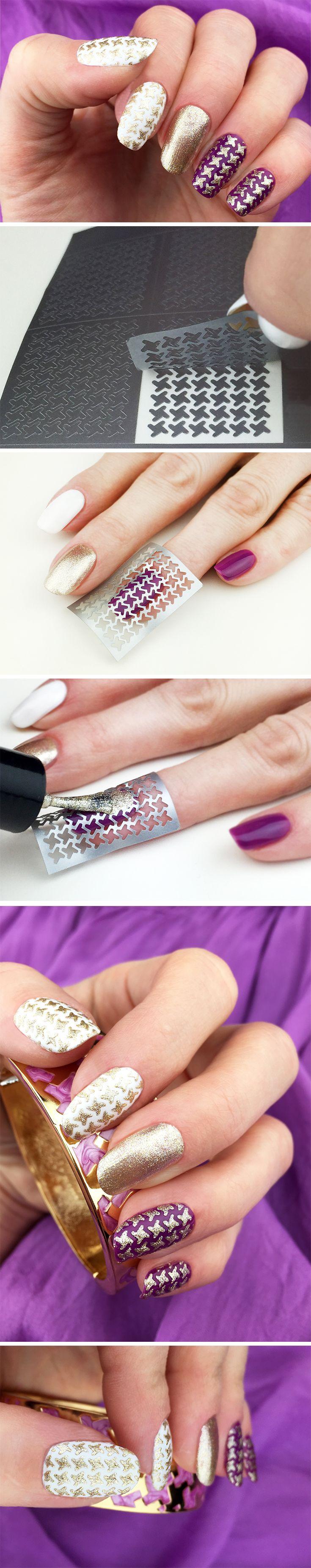 The 25+ best Nail art stencils ideas on Pinterest | Nail ...