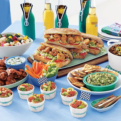 Tailgate party food spread #TailgateFood #Ultimate Tailgate and #Fanatics