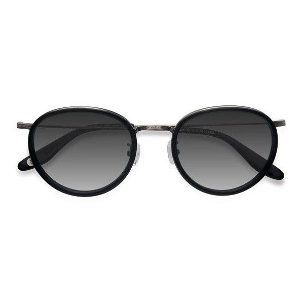 Men's Sun Tea - Black round metal - 17157 Black Rx Sunglasses ($28) ❤ liked on Polyvore featuring men's fashion, men's accessories, men's eyewear, men's sunglasses, mens round sunglasses, mens sunglasses and mens eyewear