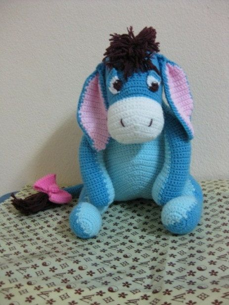 Eeyore  disney winnie the pooh cartoon doll  amigurumi by achira, $35.00