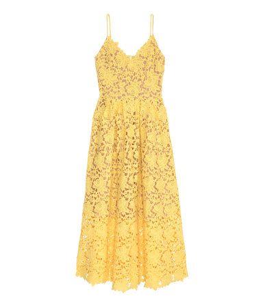 Calf-length dress in lace.  | H&M Pastels