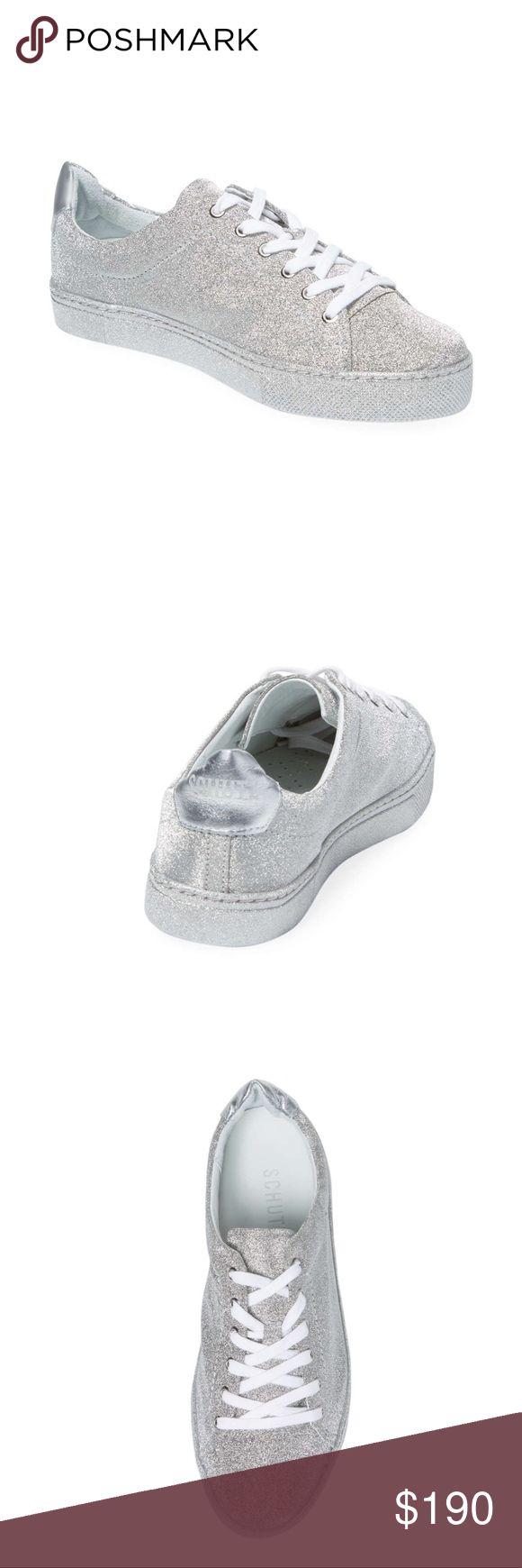 Schutz Chayton leather low top sneakers Schutz Chayton leather low top sneakers in silver. Women's 8. Worn twice, in almost-perfect condition. SCHUTZ Shoes Sneakers